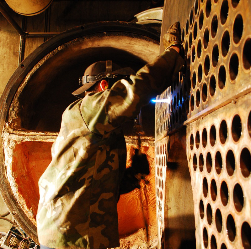 Boiler Retubes   Man Welding