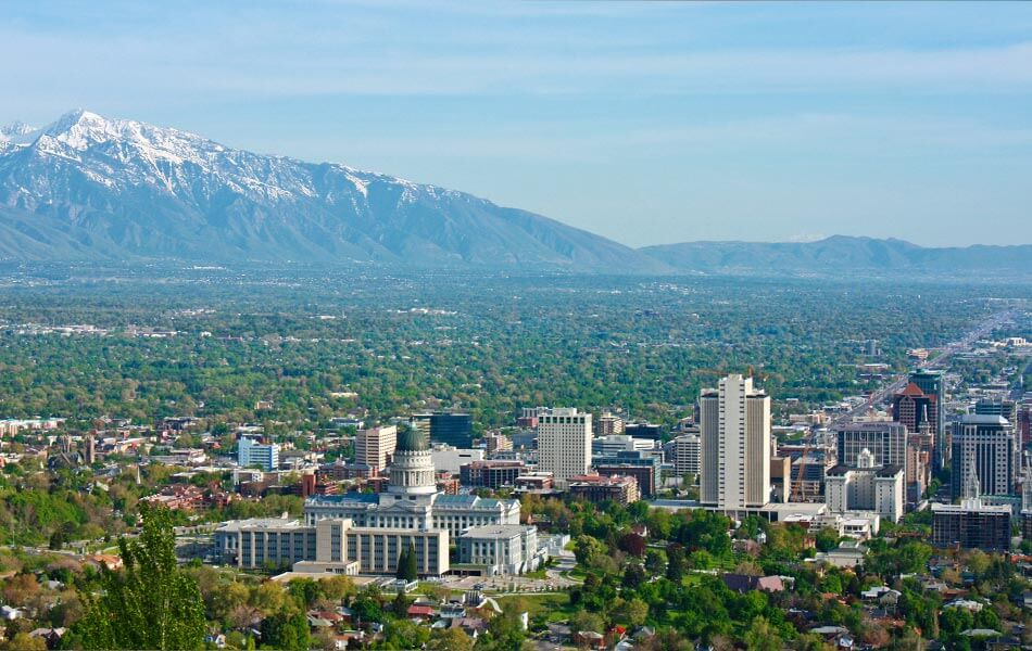 Salt Lake City Valley and Capital Building